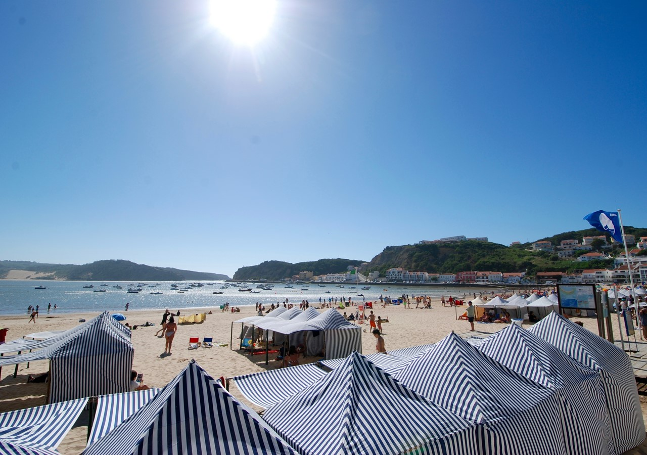 Tents On Sao Martinho Beach