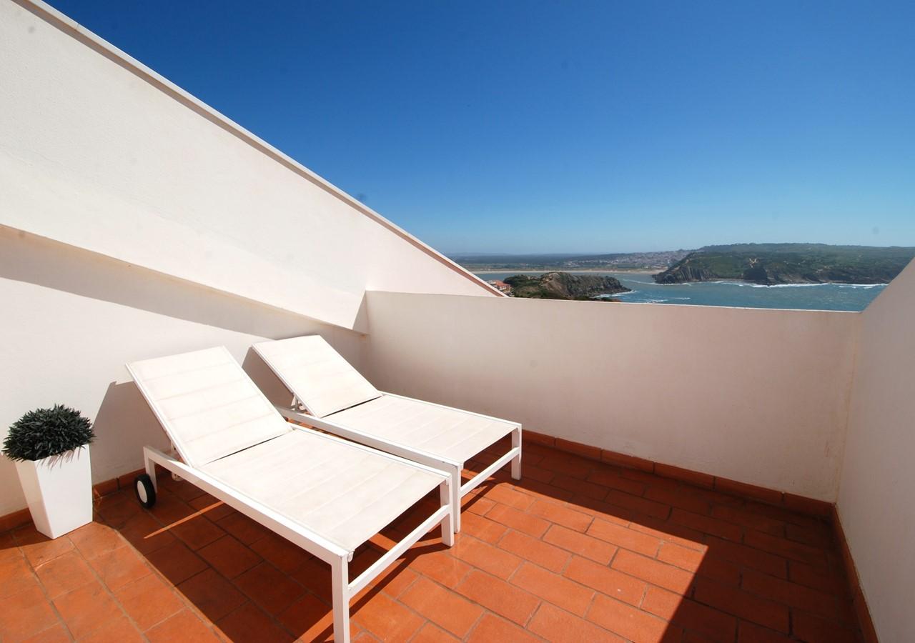 Terrace with view over São Martinho bay