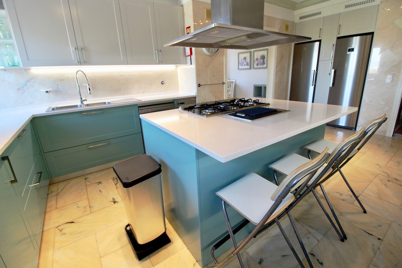 Beautiful kitchen in luxury holiday home in the Algarve