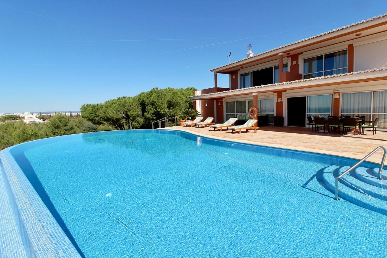 Infinity pool in luxury villa