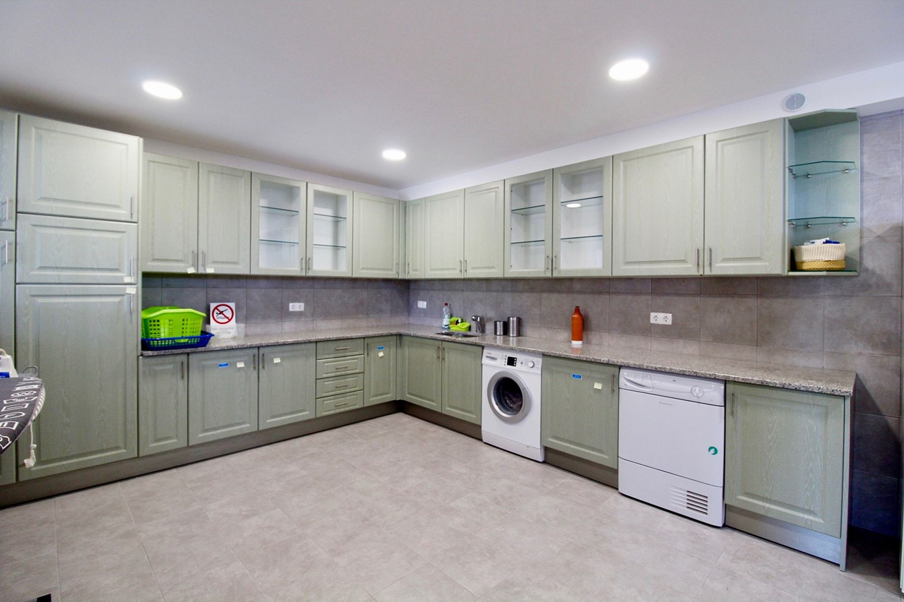 Large and well equipped laundry room in luxurious villa