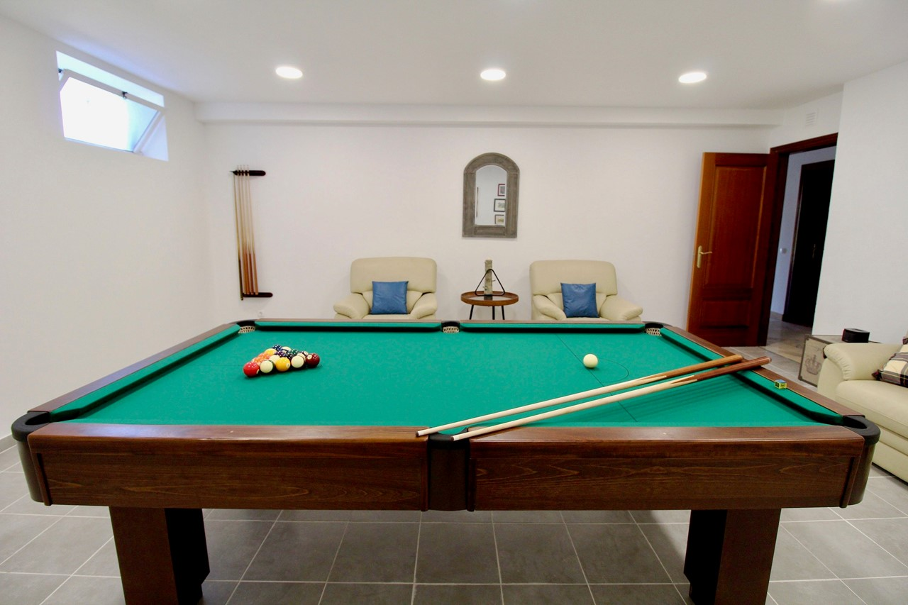 Pool table in holiday home