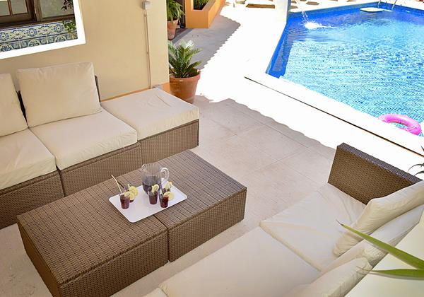 Seating Area Around The Pool