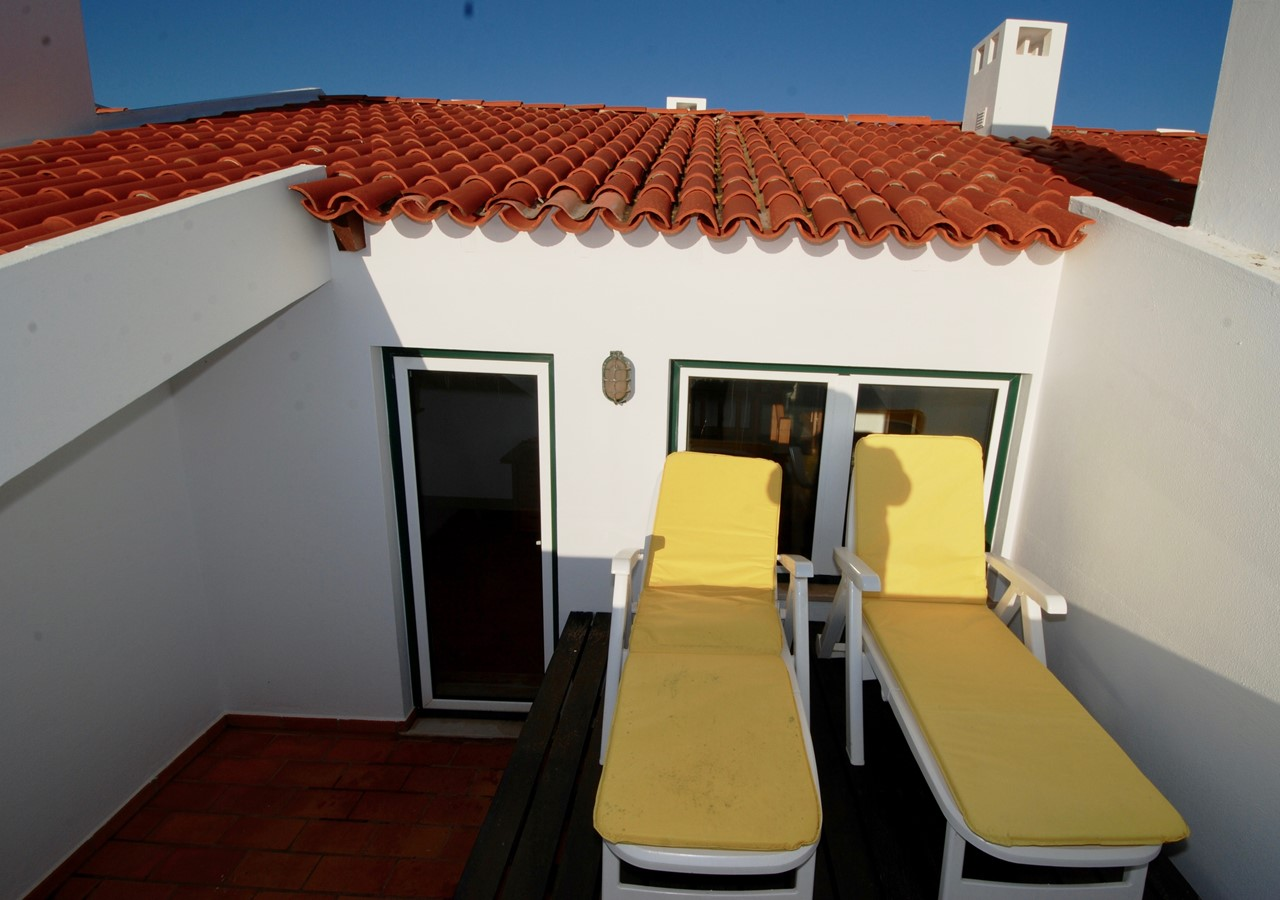 Private sun loungers in holiday home