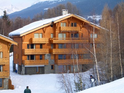 Blanc - Chalet style 3 bedroom apartment, sleeps 7, on slopes of ski resort Montalbert, La Plagne, France