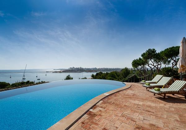 Infinity Pool In Luxury Holiday Villa