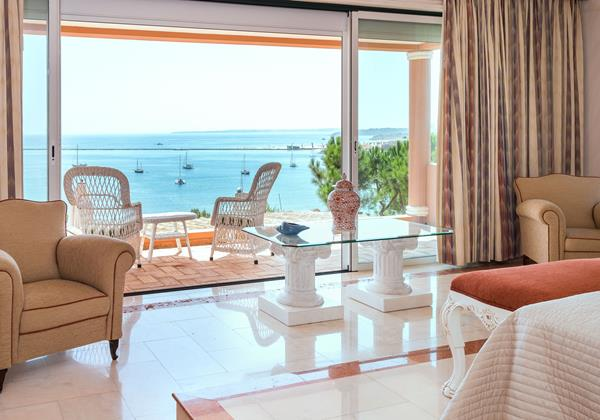 Master Bedroom With Lovely View Over The Sea