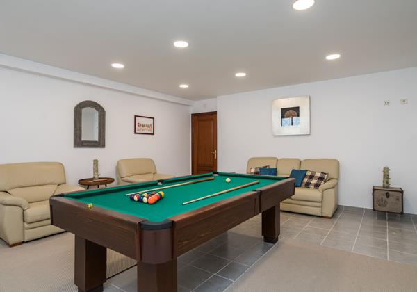 Pool Table In Private Games Room